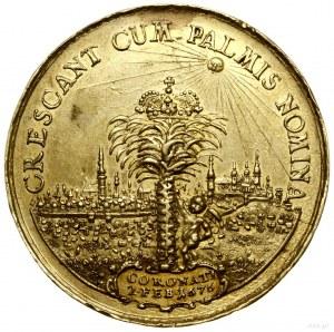 Medal na pamiątkę koronacji pary królewskiej, 1676, aut...