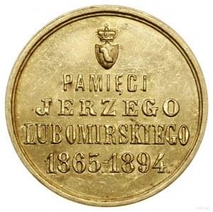 Medal pośmiertny Jerzego Lubomirskiego, 1894; Aw: Herb ...