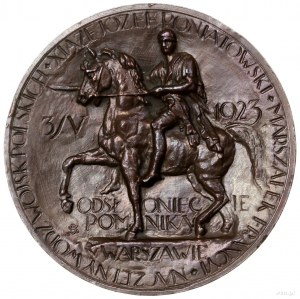 Medal na pamiątkę odsłonięcia pomnika księcia Józefa Po...