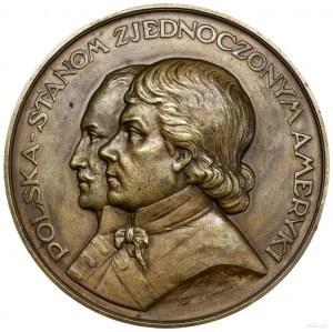 Medal Polska w hołdzie Stanom Zjednoczonym, 1926, proje...