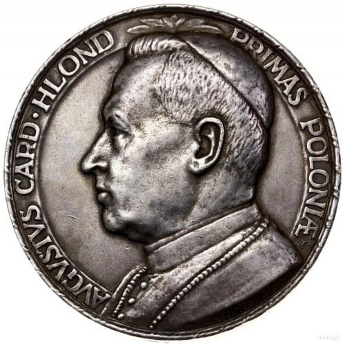 Medal pamiątkowy August Hlond, 1930, projektu Jana Wyso...