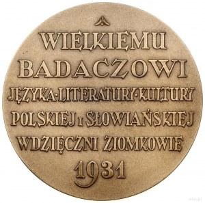Medal na pamiątkę 75. urodzin Aleksandra Brücknera, 193...