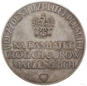 Medal na pamiątkę złotych godów 1937, Warszawa; Aw: Pop...