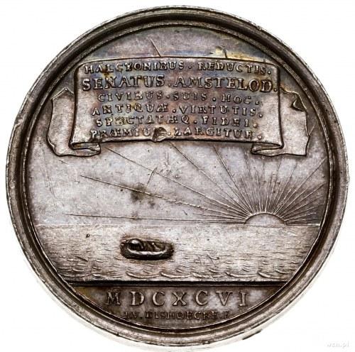 Medal upamiętniający bunt grabarzy, 1696, autorstwa Jak...