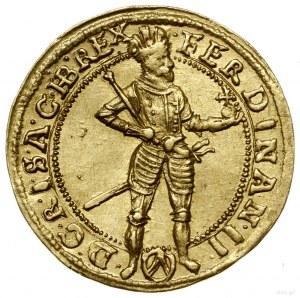 Dukat, 1627, mennica Wiedeń; Aw: Postać cesarza w prawo...