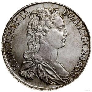 Talar (Antrittstaler), 1741, mennica Wiedeń; Aw: Popier...