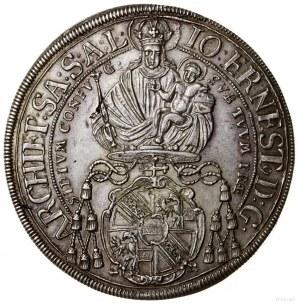 Talar, 1700, mennica Salzburg; Aw: Madonna z Dzieciątki...