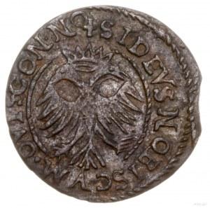 Szeląg, 1658, mennica Suczawa; Aw: Popiersie władcy w p...