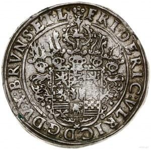 talar, 1632, mennica Goslar; Aw: Jedenastopolowa tarcza...