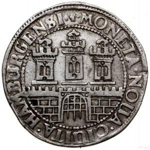 1/2 talara (16 szylingów), 1608, mennica Hamburg; z tyt...