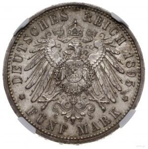 5 marek, 1895 A, mennica Berlin; AKS 120, Jaeger 146; m...