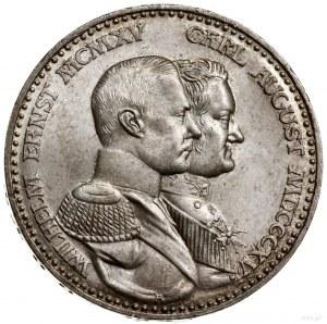 3 marki, 1915 A, mennica Berlin; Moneta wybita z okazji...