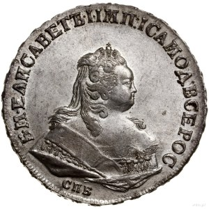 Rubel, 1745 СПБ, mennica Petersburg; Bitkin 259, Diakov...