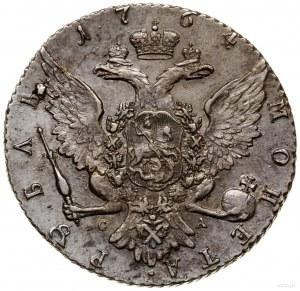 Rubel, 1764 СПБ СА, mennica Petersburg; Bitkin 186, Dia...