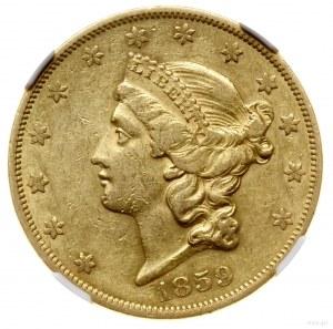 20 dolarów, 1859, mennica Filadelfia; typ Liberty Head;...