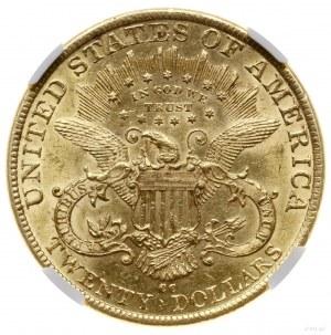 20 dolarów, 1892 CC, mennica Carson City; typ Liberty H...