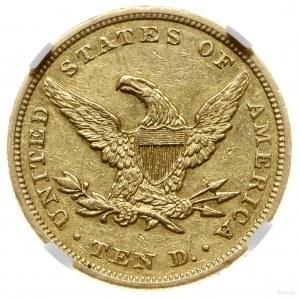 10 dolarów, 1862, mennica Filadelfia; typ Liberty head ...