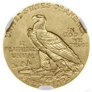 5 dolarów, 1909, mennica Filadelfia; typ Indian Head; F...