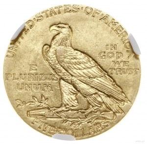 5 dolarów, 1912, mennica Filadelfia; typ Indian Head; F...