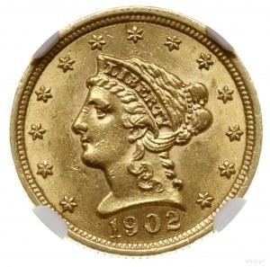 2 1/2 dolara, 1902, mennica Filadelfia; typ Liberty hea...