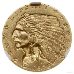 2 1/2 dolara, 1926, mennica Filadelfia; typ Indian Head...