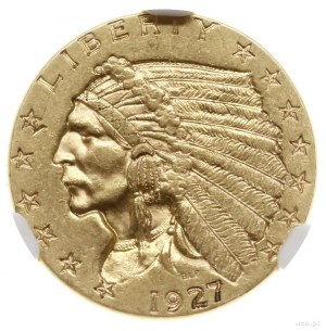 2 1/2 dolara, 1927, mennica Filadelfia; typ Indian Head...