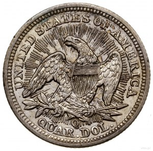 25 centów, 1853 O, mennica Nowy Orlean; typ Seated Libe...