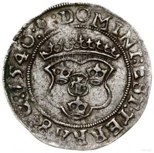 1/2 marki, 1540, mennica Västerås; portret władcy z 154...