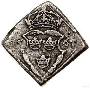 16 öre, 1565, mennica Sztokholm; SM 46; klipa, srebro, ...
