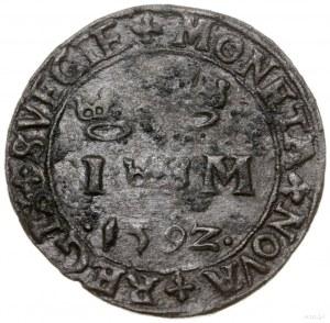 1 marka, 1592, mennica Sztokholm; SM 54b; miedź, 6.73 g...