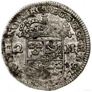 2 marki, 1650, mennica Sala lub Sztokholm; SM 61; srebr...