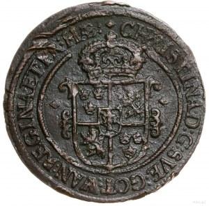 1 öre, 1645, mennica Avesta; SM 110; miedź, 49.88 g; ci...