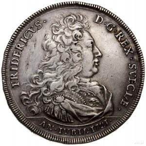 Talar (riksdaler), 1721, mennica Sztokholm; moneta wybi...