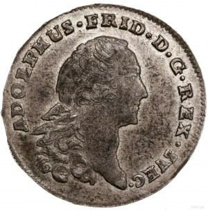 1/3 talara, 1760, mennica Stralsund; odmiana z głową kr...