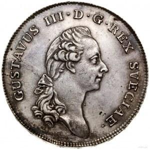 Talar (riksdaler), 1782, mennica Sztokholm; Dav. 1736, ...