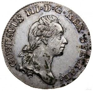 1/6 talara (riksdalera), 1778, mennica Sztokholm; SM 78...