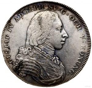 Talar (riksdaler), 1801, mennica Sztokholm; Dav. 346, S...