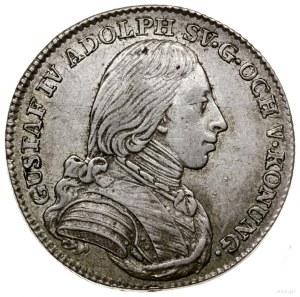 1/6 talara (riksdalera), 1803, mennica Sztokholm; SM 38...