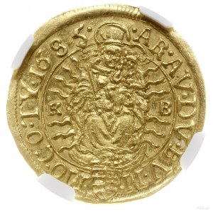 Dukat, 1685 KB, mennica Kremnica; Aw: Aw: Postać króla ...