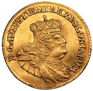 August III Sas (1733-1763) - Dukat 1756 EDC - Drezno - PIĘKNY
