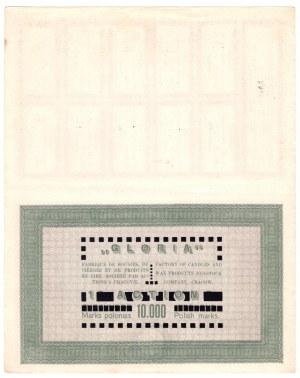GLORIA Fabryka Świec i Wyrobów Woskowych S.A., - 10.000 marek 1923