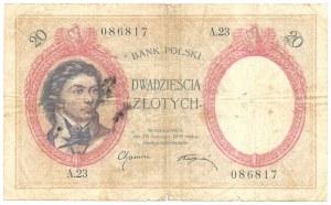 20 złotych 1919 - A.23 - RZADKI