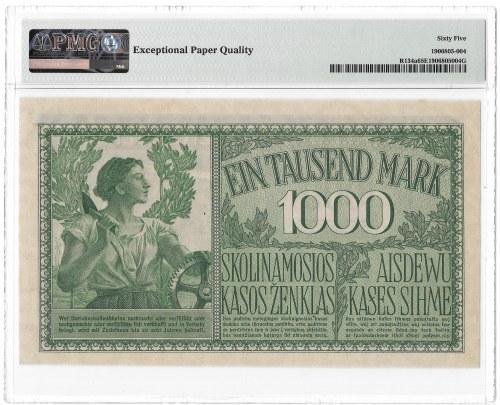 KOWNO - 1000 marek 1918 - A - PMG 65 EPQ - 2-ga max nota