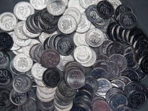 PRL - 133 sztuki monet 20 groszy (1976-1979) - mennicze