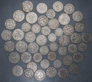 II RP - Zestaw monet 1 złoty 1929 oraz 10,20 i 50 groszy 1923 - miedzionikiel
