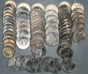PRL - 72 sztuk monet (1967-1980) - mennicze - miedzionikiel