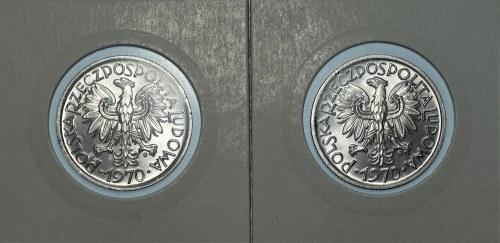 PRL - 2 złote 1970 - Jagody - mennicze - 2 sztuki