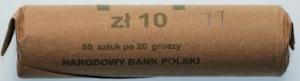 PRL - Rulon bankowy 50 x 20 groszy 1977