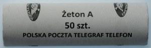 Rolka bankowa - żeton A 1990 - Poczta Polska - mennicze - 50 sztuk