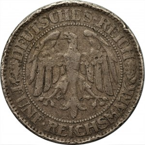 NIEMCY - Republika Weimarska - 5 marek 1927 (A) - Falsyfikat